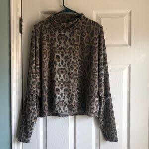 Abound Leopard Mock Neck Sweatshirt